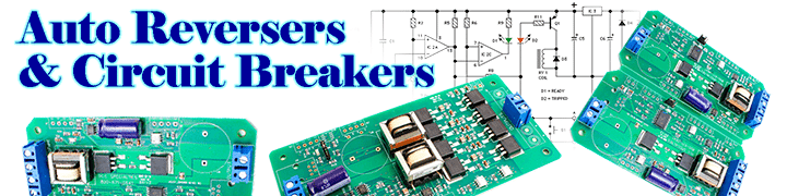 DCCconcepts Auto Reversers & Circuit Breakers on