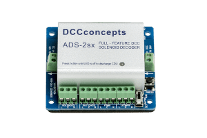 Accessory Decoder CDU Solenoid Drive SX 2-Way with Power-Off Memory and Protective Case