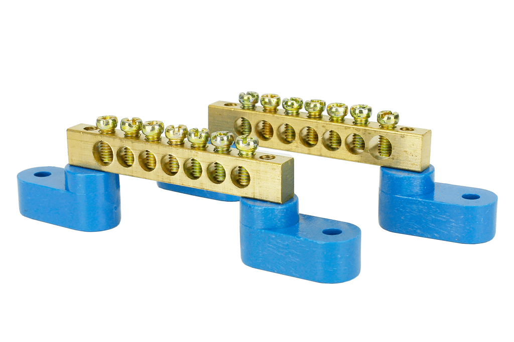 Solid Brass Power Distribution Bars (2 Pack)