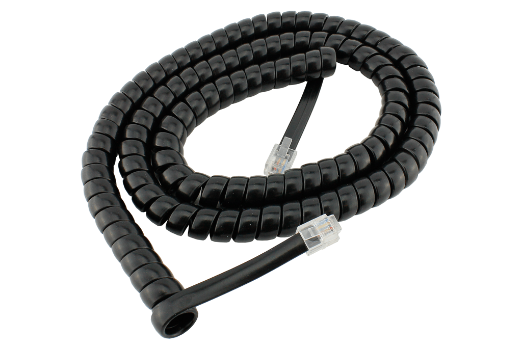 RJ12 6pin Curly Cord For Powercab and Cobalt Alpha - 2m/6ft