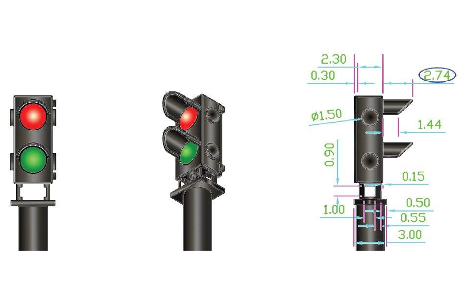 ALPHA MIMIC 12x Red/Green Ground Signal