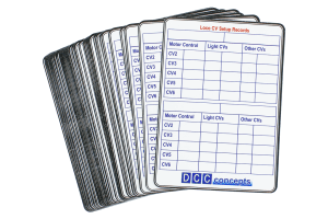 52 Decoder CV Settings Record Cards