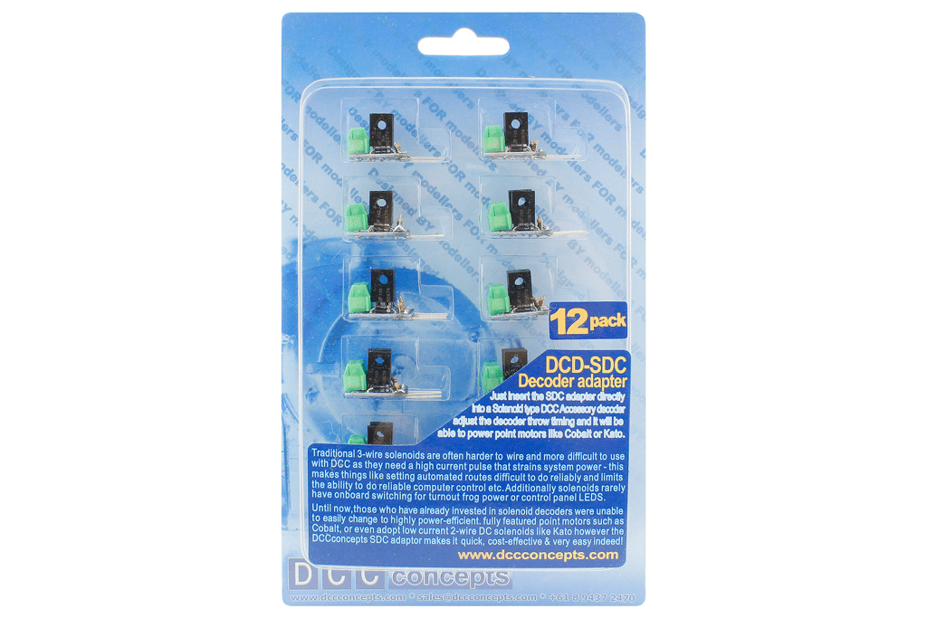 DCC Decoder Converter 3 Wire to 2 Wire (12 Pack)