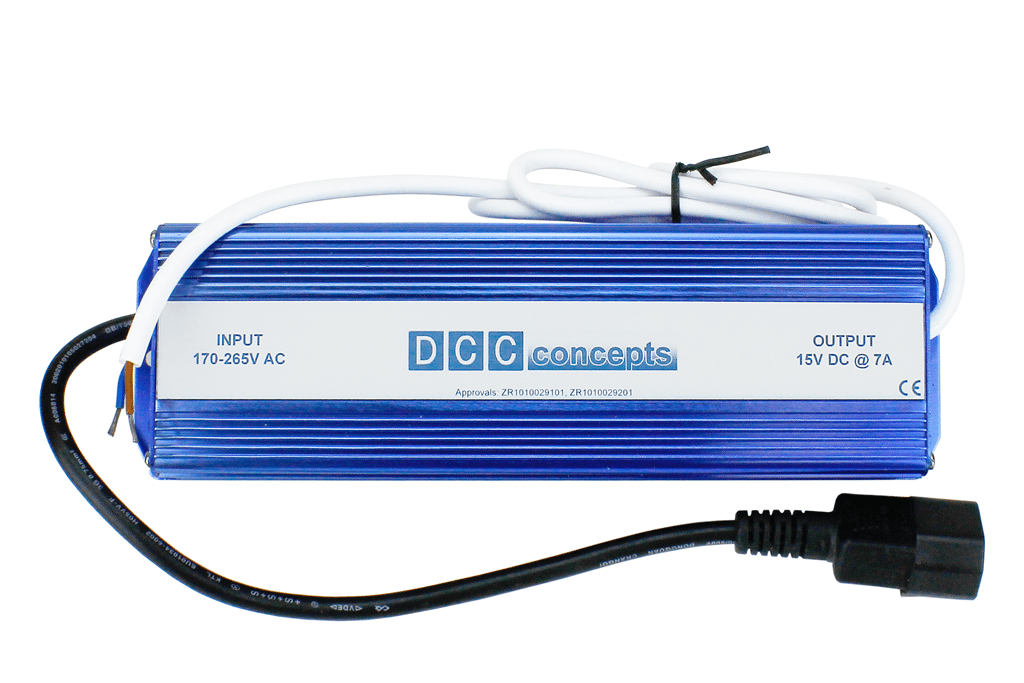 DC/DCC Power Supply 7A/15v Regulated DC For DCC Systems.