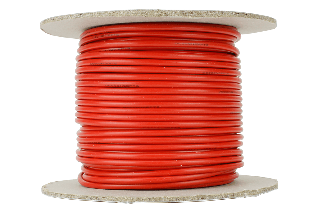 Power Bus Wire 25m of 2.5mm (13g) Red.