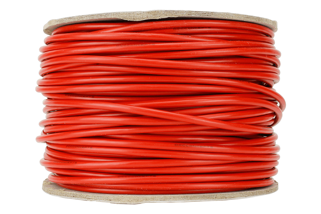 Power Bus Wire 50m of 3.5mm (11g) Red.