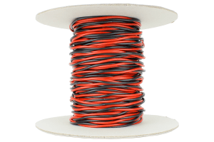 Twisted Bus Wire 25m of 1.5mm (15g) Twin Red/Black.