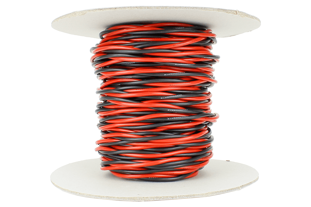 Twisted Bus Wire 25m of 2.5mm (13g) Twin Red/Black.