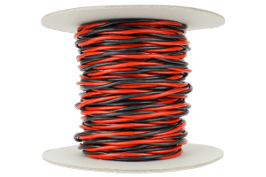 Twisted Bus Wire 25m of 3.5mm (11g) Twin Red/Black.