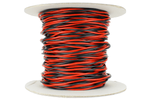 Twisted Bus Wire 50m of 1.5mm (15g) Twin Red/Black.