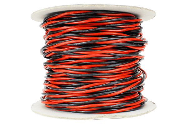 Twisted Bus Wire 50m of 3.5mm (11g) Twin Red/Black.