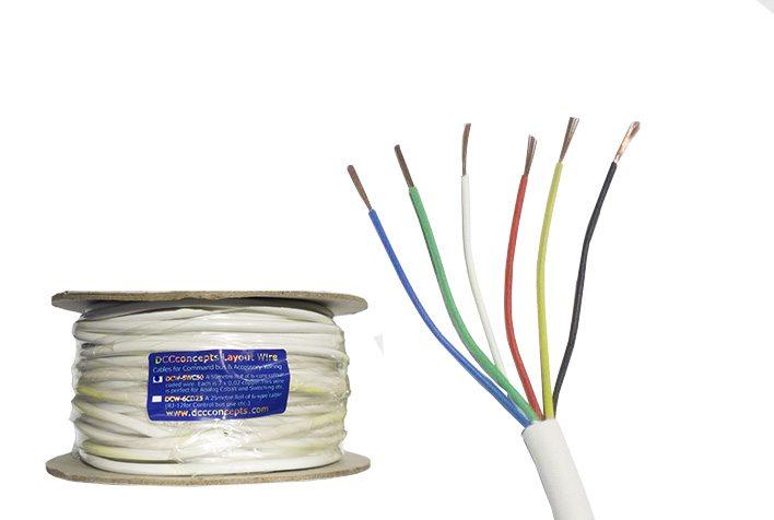 Wondrous Accessory Bus Wire 50M 7X 0 2Mm 6 Core In White Sheath Wiring Digital Resources Attrlexorcompassionincorg