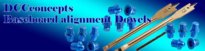 DCC Concepts DCB-BDKIT 2 Pairs of Baseboard Dowels with Drills