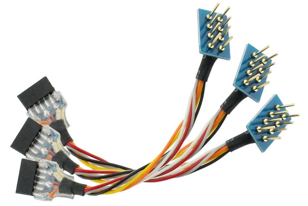 NEM652 8 Pin Plug to 6 Pin NEM651 Socket Harness (3 Pack)