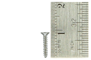 Countersunk Screws 1 x 8mm (60 Pieces)