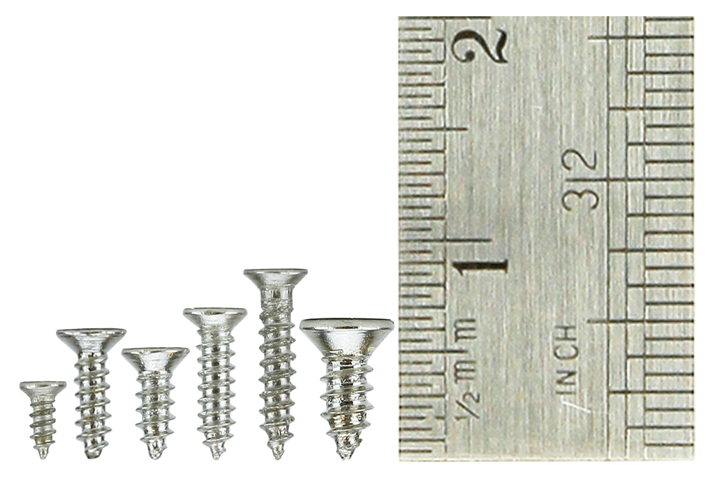 Countersunk Screw Set 6x 60 Vials.