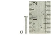 Micro Bolts (w/nuts) + head 1.4 x 10mm (60 Pieces)