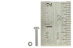 Micro Bolts (w/nuts) 1.4 x 8mm (60 Pieces)