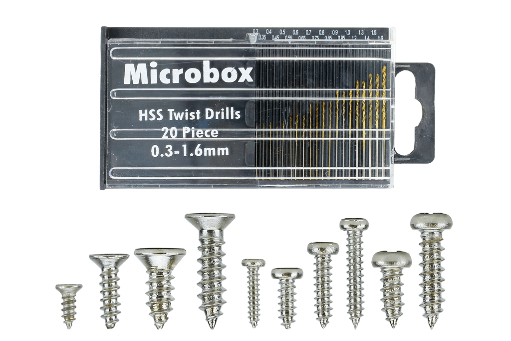 Mega Screw Set 10x 60 Vials (w/20 Drill Bit Set)