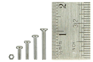 Micro Bolt and Nut Set 4x 60 Bolts 240x Nuts.