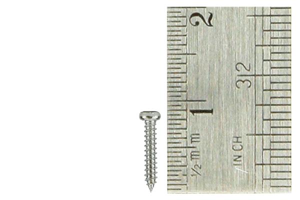 Pan Head Screws 1.5 x 8mm (60 Pieces)