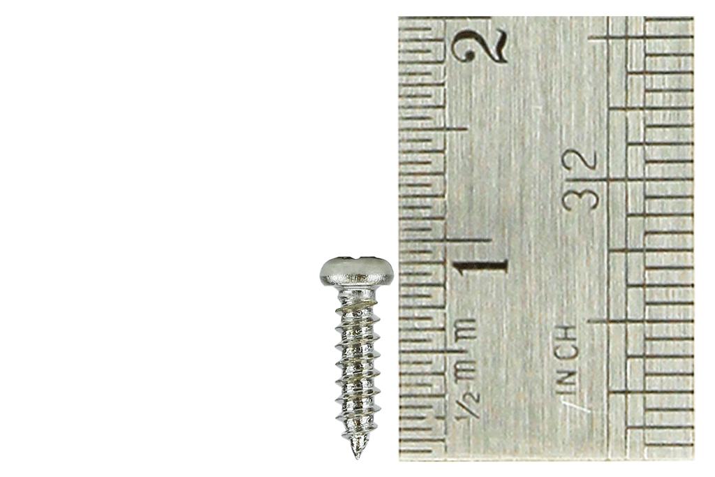Pan Head Screws 2 x 8mm (60 Pieces)