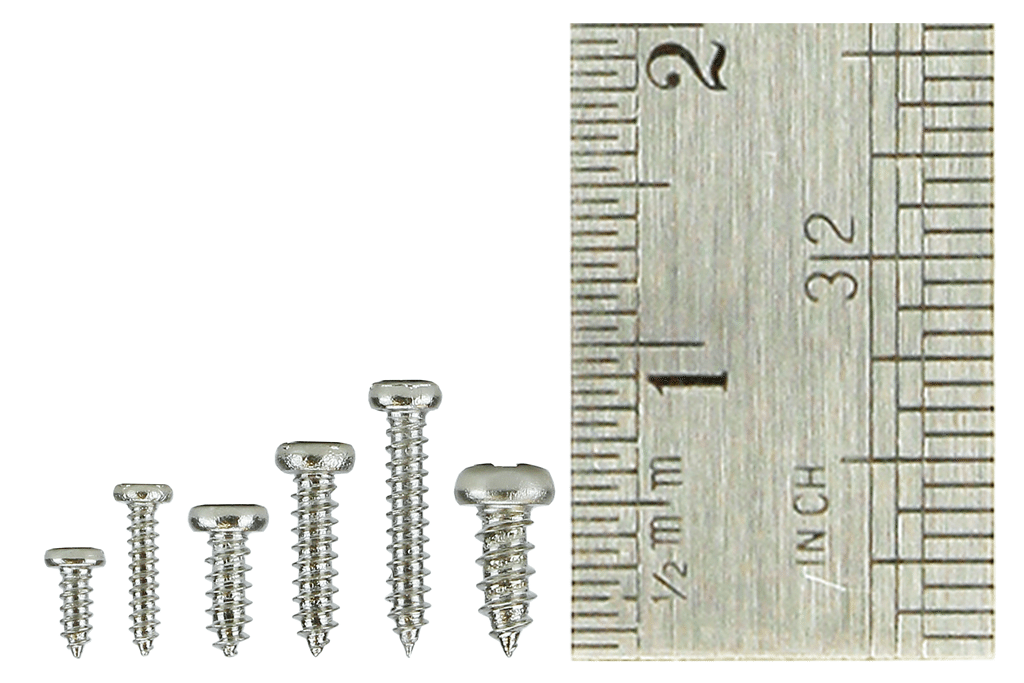 Pan Head Screw Set 6x 60 Vials.