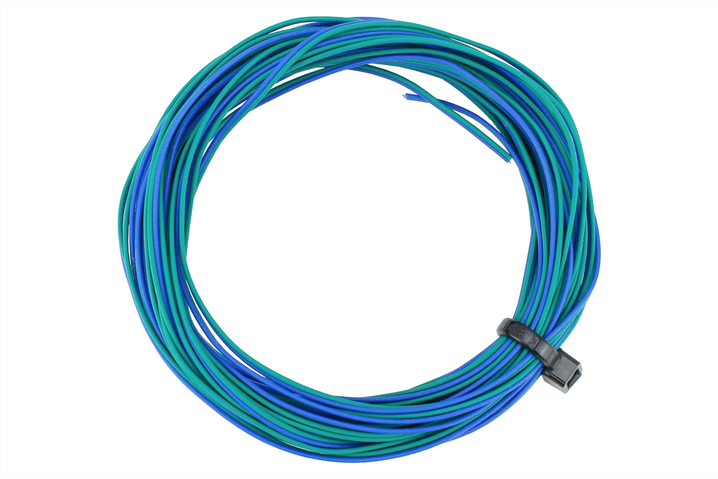 TWIN Wire Decoder Stranded 6m (32g) Green/Blue.