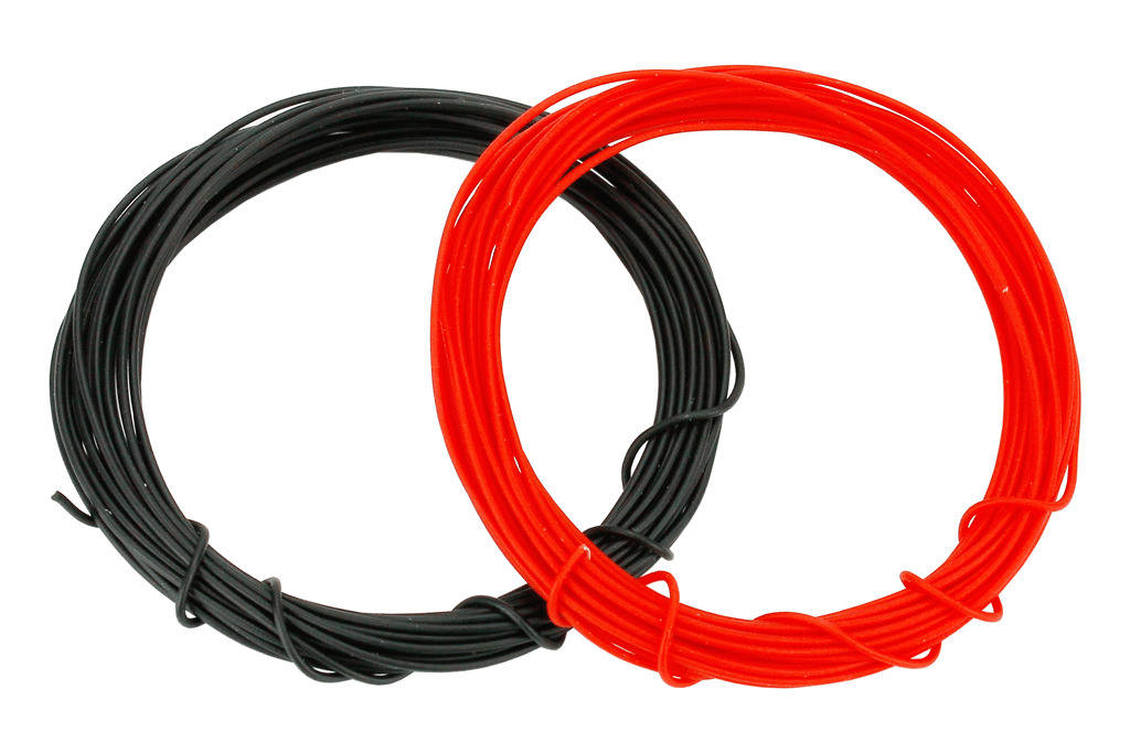 Kynar Wire 2m (Silver Plated) in Red & Black.