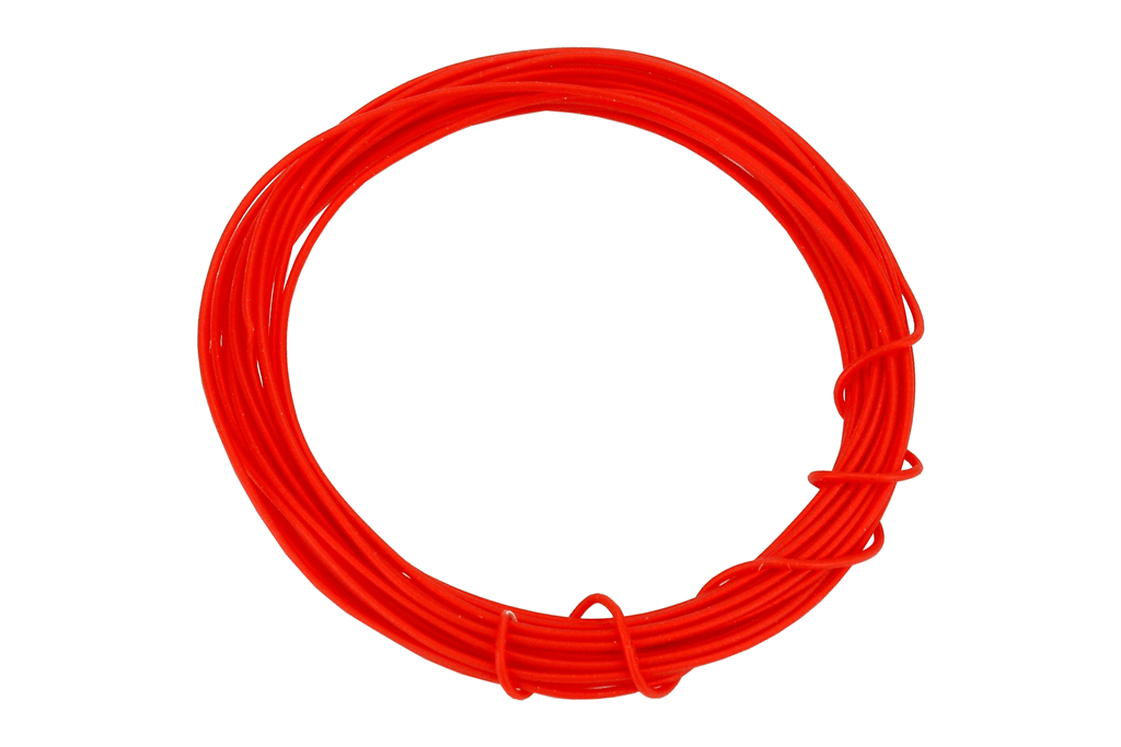 Kynar Wire 2m (Silver Plated) in Red.