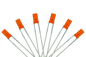 Flat Front Type 6x 3mm (w/Resistors) Signal Amber