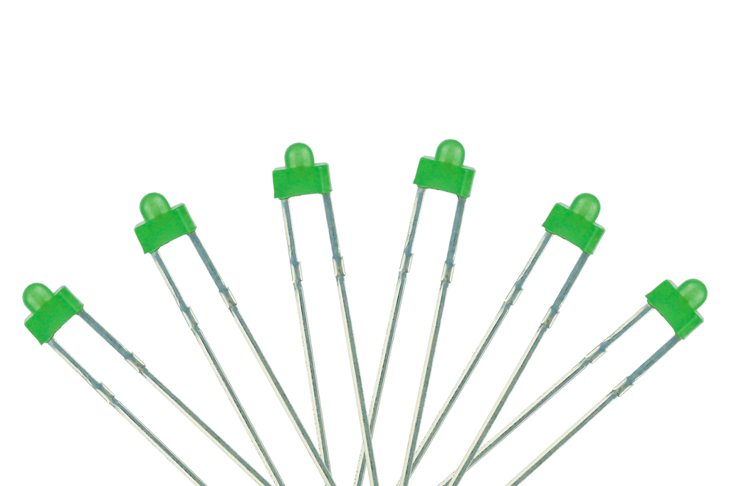 Panel Dot Type 6x 1.8mm (w/resistors) Green.