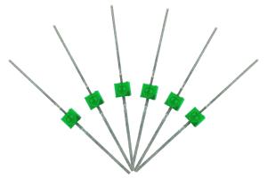 Mini Butterfly Type 6x 1.6mm (w/resistors) Green.