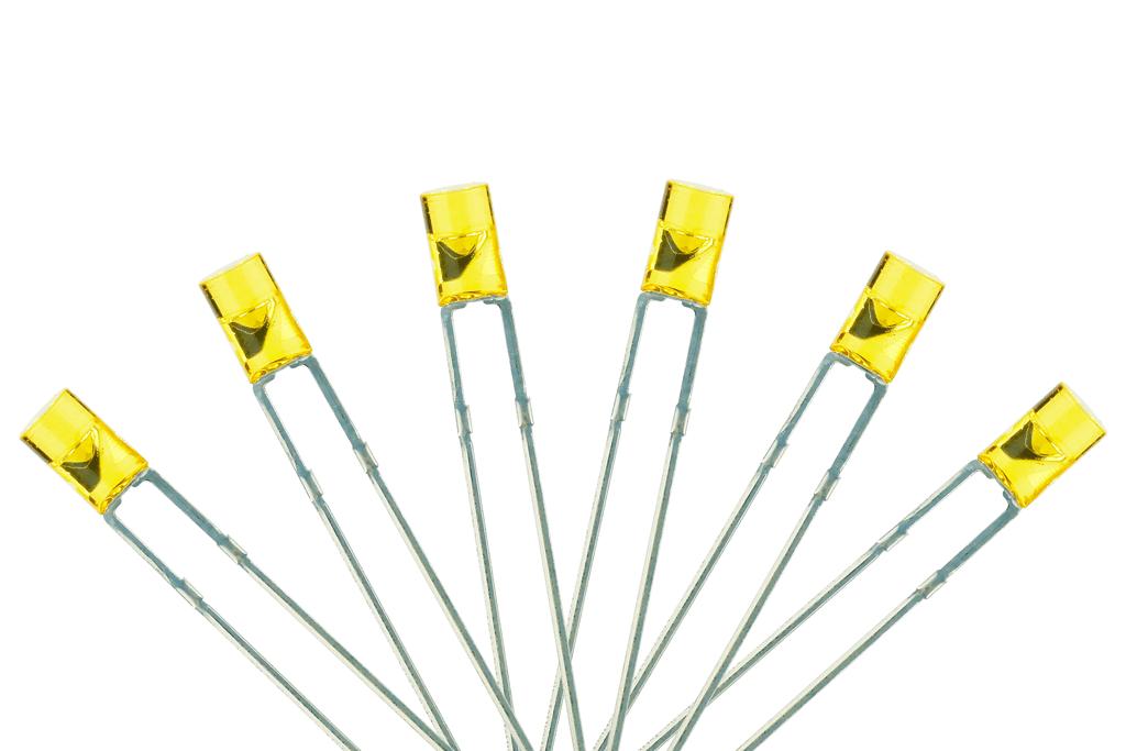 Flat Front Type 6x 3mm (w/resistors) Prototype White