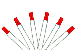 Flat Front Type 6x 3mm (w/Resistors) Signal Red