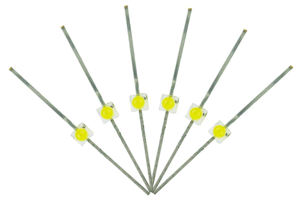 Mini Butterfly Type 6x 1.6mm (w/resistors) Daylight White