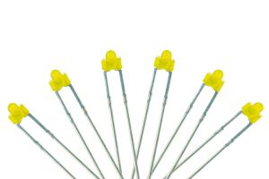 Panel Dot Type 6x 1.8mm (w/resistors) Yellow.