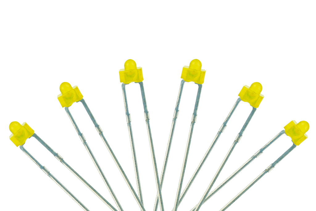 Panel Dot Type 6x 1.8mm (w/resistors) Yellow.