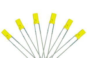 Flat Front Type 6x 3mm (w/Resistors) Signal Yellow