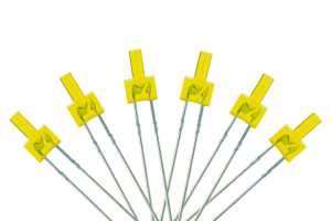 Tower Type 6x 2mm (w/resistors) Yellow.