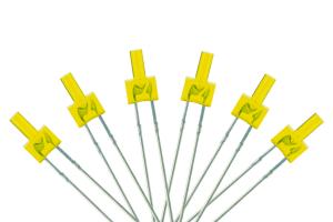 Tower Type 6x 2mm (w/resistors) Yellow.