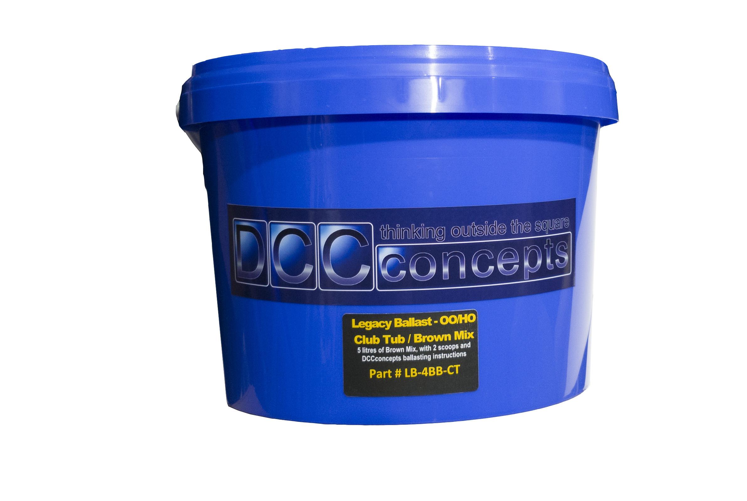 5 Litre Club Tub of OO/HO scale Ballast. Brown Blend