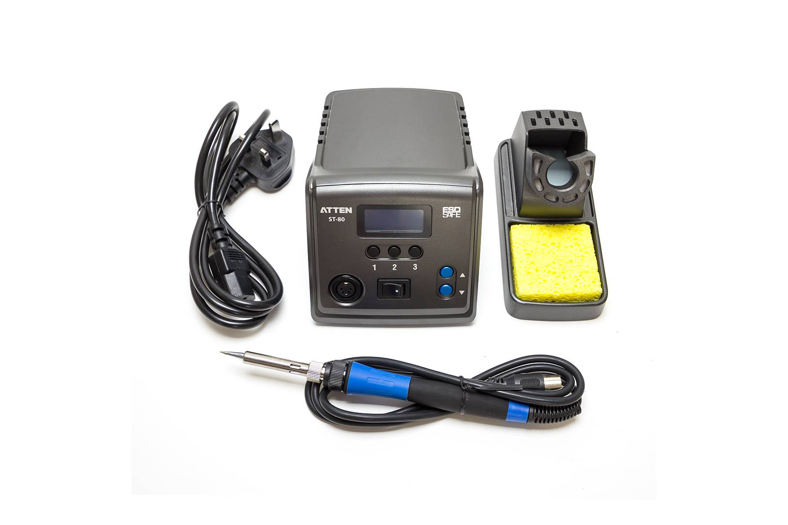80 Watt Soldering Station With Digital Temperature Control Gun For Circuit Boards What Kind Of Wattage