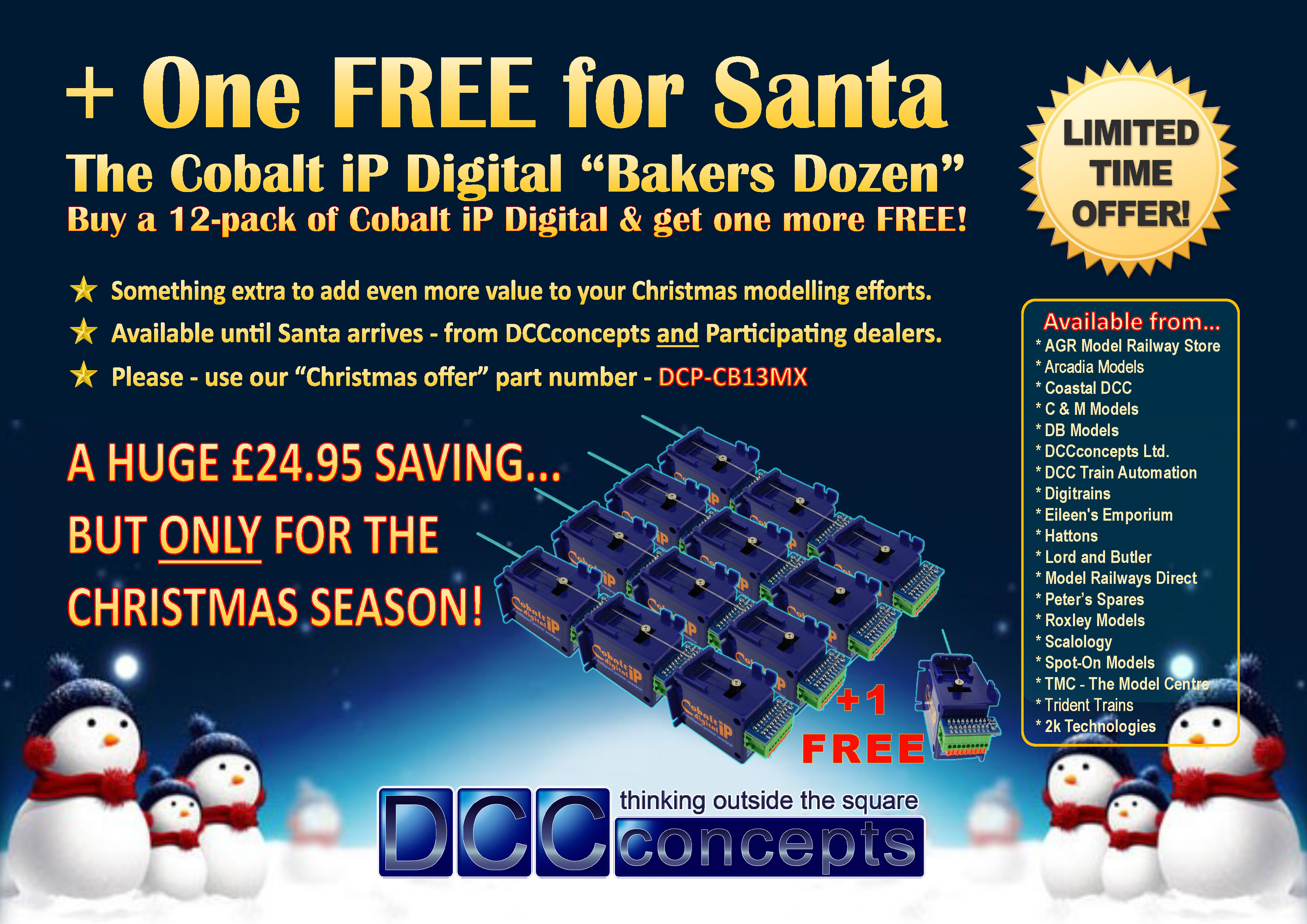 Cobalt iP Digital 13-pack